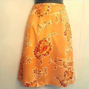 Valerie Stevens Coral Skirt 8P Petite Bead Accents
